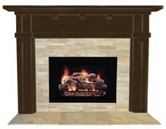 Dark wood fireplace surround. | Home Renovation Ideas | Pinterest ...