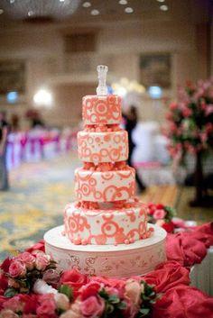 Walt Disney World Wedding: Brittany + Sam - Disney wedding cake