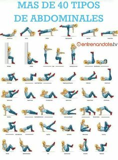 More than 40 types of abdominals! Oh... Could we all read that? Sorry I like to think I'm smart xD