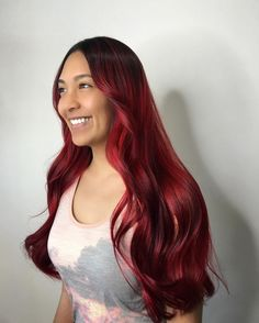 Dark to Red Ombre