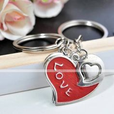 Personalized Engraving LOVE YOU Metal Couple Keychain 2330285 2016 – $2.99