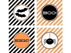 Halloween Party circles from TomKat Studios on HGTV.com for FREE...download them all!