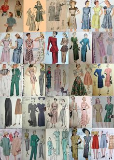 I've been collecting every pattern cover I can find from the era, click on the image to enlarge it.   As I was sifting through these desi...