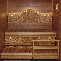 Sauna Lighting and Bench Form love love love Outdoor Sauna, Outdoor Decor, Portable Sauna, Sauna Design, Steam Sauna, Sauna Room, Apartment Interior Design, Extra Seating, Vienna