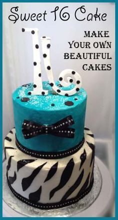 Sweet 16,  make your own beautiful cakes.