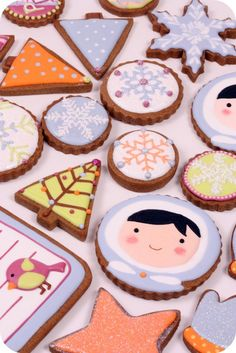 Kawaii Winter Cookies