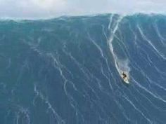 "Surfing Huge Waves in Hawaii. ""It's all about where your mind's at.""  Kelly Slater"