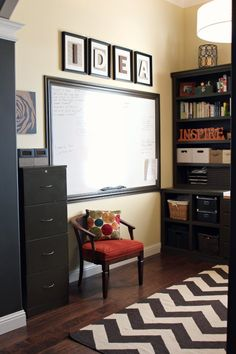 Get Your Home Office Organized:  I wish I had any idea how to build and recreate this exact space!  Perfection!