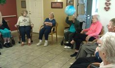 Senior residents of this memory care unit participate in the Live 2 B Healthy Senior Fitness classes 3 times a week to improve their strength, mobility, and cognitive skills!