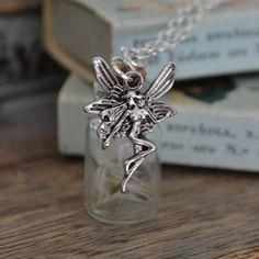 Wishes: Real Dandelion Seed Mini bottle by ThumbelinasWish on Etsy