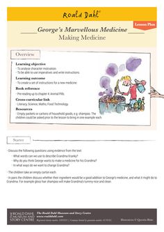 George's Marvellous Medicine was published in 1981. If you fancy brewing up some potions in your own classroom (make sure they&'re safer than George&';s......