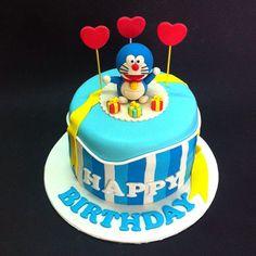 Fondant 3D Doraemon Rainbow Cake - Fondant Cakes - Johor Bahru ...