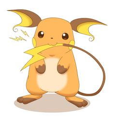 Pokémon, raichu, incredibly cute / しっぽハムハム - pixiv Pokemon Red, Pokemon Stuff, Cute Pokemon, Pokemon Eevee Evolutions, Pikachu Art, Favorite Cartoon Character, Gen 1, Digimon, Easy Drawings