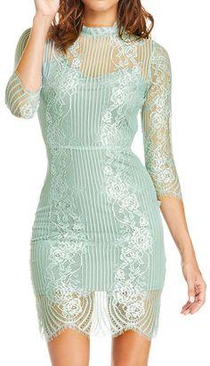 Mint lace dress