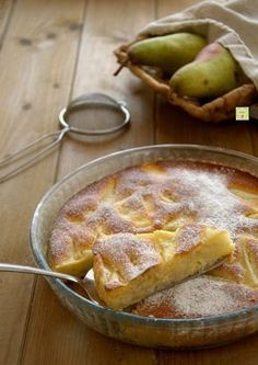 torta di pere morbida Sweet Recipes, Cake Recipes, Dessert Recipes, Pear Dessert, Italian Cake, Torte Cake, Italian Recipes, Love Food, Delicious Desserts