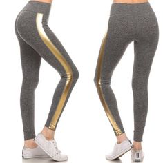 High quality GOLD glam activewear leggings Glam gold leggings activewear ; low impact. 67% nylon 25% polyester 8%spandex. Long Pants Leggings