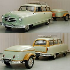 Nash Rambler with matching trailer