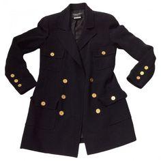 Black Jacket CHANEL ($1,800) ❤ liked on Polyvore featuring outerwear, jackets, chanel jacket and chanel