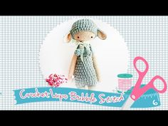 Diddlisha crochet lalylala lupo Bubble stitch كروشيه الغرزه المتفوخه