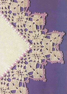 Beautiful Crochet Edging- very antique feeling & for some reason reminds me of Irish Crochet. Filet Crochet, Crochet Picot Edging, Beau Crochet, Crochet Boarders, Crochet Motifs, Thread Crochet, Crochet Trim, Love Crochet, Irish Crochet