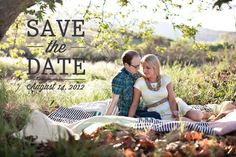 Lots of cute save the dates from this graphic designer