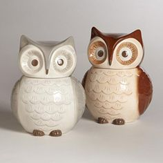 Owl Shaped Ceramic Cookie Jar Storage Container 8.75 - Kitchen Things