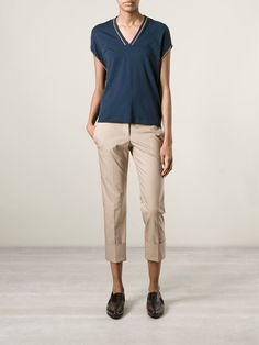 Brunello Cucinelli Cropped Trousers - Spinnaker 101 - Farfetch.com