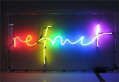 Custom Neon Signs: Example - Refract