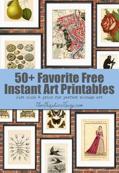 50 Free Wall Art Printables! Graphics Fairy. Loads of free Printables so that you can DIY your own Wall Decor! Great for Crafts and Decorating your home!