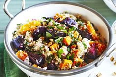 This delicious quinoa salad with beetroot, pumpkin