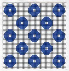 Billedresultat for birgitta bengtsson björk Crochet Diagram, Crochet Chart, Crochet Motif, Crochet Stitches, Knit Crochet, Crochet Patterns, Fair Isle Knitting Patterns, Knitting Charts, Peyote Patterns