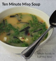 ... kale white bean and sausage soup miso soup simple 10 minute miso soup