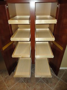 http://www.slideoutshelvesllc.com Pantry cabinet pull out shelves