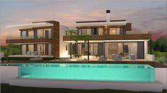 Luxury villa currently under construction, with an elegant double height entrance hall, in Los Flamingos, Benahavis   https://www.crystalshore-properties.com/en/listing/spain/benahavis/benahavis/villa/4351/