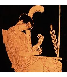 La musa Terpsíkhore Cerámica griega