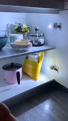 Cool Kitchen Gadgets, Home Gadgets, Cool Kitchens, Modern Kitchen Design, Interior Design Kitchen, Home Decor Kitchen, Kitchen Furniture, Kitchen Organization, Kitchen Storage