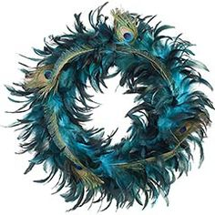 Thank you @Lindsey Rosenthal // Events For Good -> Peacock wreath for @Monica Sethi