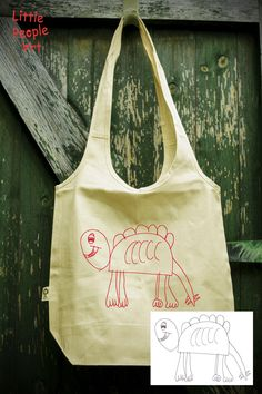 Personalized Tote Bag - Your Child's Drawing Silk Screen Print on Organic Cotton Unbleached Shoppin Screen Printing Equipment, Silk Screen Printing, Green Screen Photo, Cool Lock Screens, Iphone Homescreen Wallpaper, Personalized Tote Bags, Screen Design, Cotton Bag, Drawing For Kids