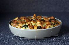spinach and cheese strata!!!