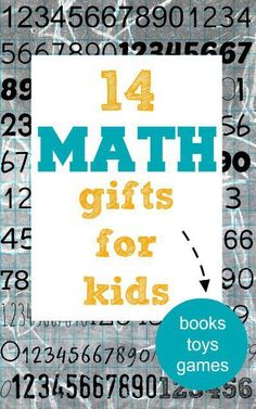 Gift guide: math gifts for kids of all ages including books, puzzles, toys and games. They missed the game of Set! Math Activities For Kids, Math For Kids, Science For Kids, Fun Math, Montessori Math, Homeschool Math, Homeschooling, Early Learning, Kids Learning
