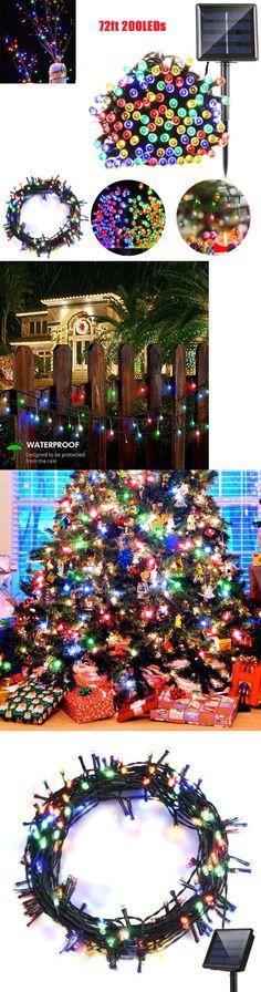string lights fairy lights 116022 200 led 72ft outdoor solar power string light garden christmas fairy lamp decor buy it now only 1199 on ebay