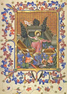 Date: 1400's  Artist:  Unknown illustrator of the 'Breviary (Book of Prayers) of Martin of Aragon, Spain