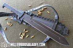 Miller Bros. Blades M-2. This model is available in Z-Wear PM, CPM 3V, and 5160 steels Miller Bros. Blades Custom Handmade Knives, Swords & Tomahawks.