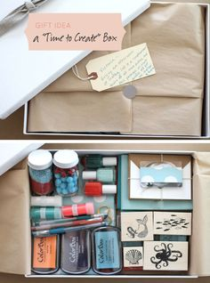 Obviously I love this Mother's Day Gift Idea - Time to Create Box filled with lots of great craft goods