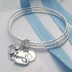 My Family Handmade Personalised Fine Silver Bangles   Silver Handmade Jewellery   Gifts For Her