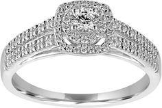 MODERN BRIDE Modern Bride I Said Yes 1/2 CT T.W. Genuine Diamond White Bridal…