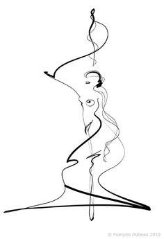 Красивые линии Francois Dubeau | художник рисунок настроение искусство женщины графика