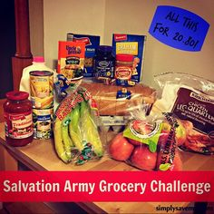 The Salvation Army set me on a grocery challenge to feed a family of four for two days with only $30! Let's just say I learned a lot!