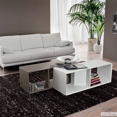 Peeter: Tavolino Libreria Legno Salotto Design Contemporaneo | LD Arredamento