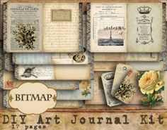28 best do it yourself journal kits images on pinterest journals bitmap this image shows a selection of letters and writings that have been placed together in a journal kit that look dated and detailed solutioingenieria Gallery
